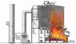 Solid Fuel Fired 6-75 TPH BI Drum FBC Boiler IBR Approved
