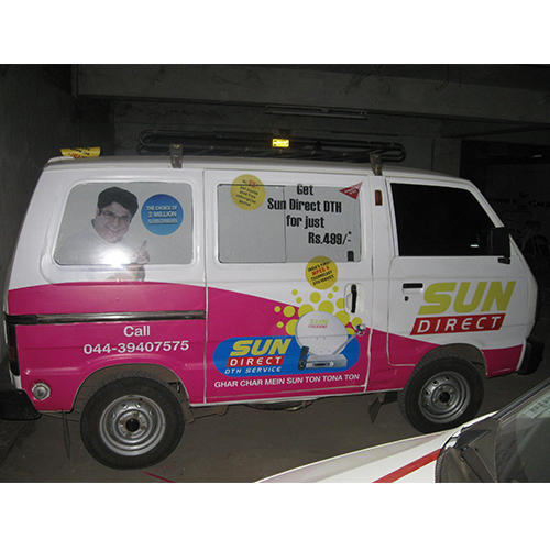 Car advertising stickers