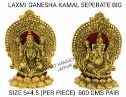 Golden Plated Laxmi Ganesh