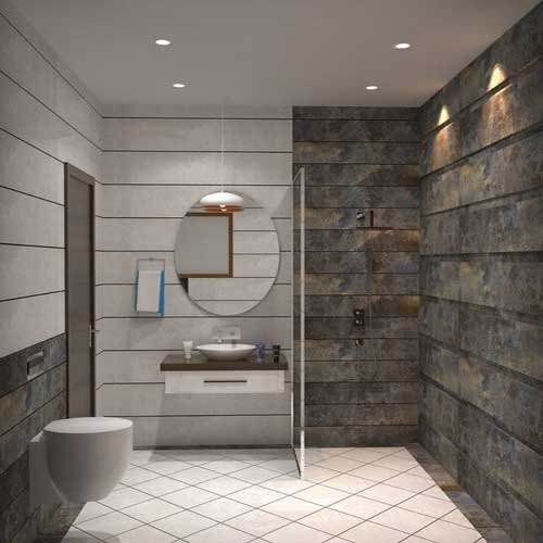 Urban Modular Matt Stone Bathroom Wall Tile Thickness 5 10 Mm Size 300x450 Mm 300x300 Mm Rs 80 Square Feet Id 22025557488