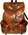 Flap Closure Vintage Leather Backpack