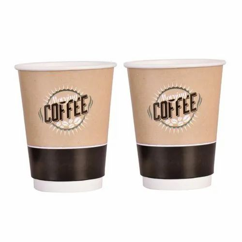 Brown 400 ML Double Wall Paper Cup, For Event, Packet Size: 25 Piece