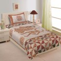 Barmeri Print Cotton Single Bed Sheet with 1 Pillow Cover