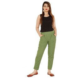 Ladies Cotton Casual Pants