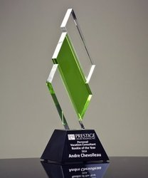 Modern Crystal Trophy