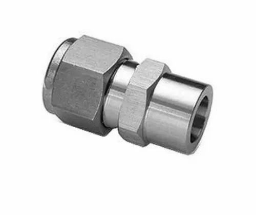 Stainless Steel Welded Male Weld Connector, Size: 1/2-1 Inch