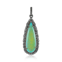 Real Diamonds Opal Pear Shape Pendant Jewelry, Packaging: Box