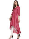 Crepe Silk Anarkali Kurta In High Low