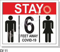 Covid19 Signage: Stay 6 Feet Away
