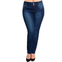 Ladies Dark Blue Regular Fit Denim Jeans, Size: 30