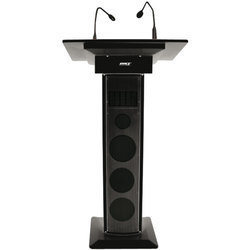 Black Audio Podium
