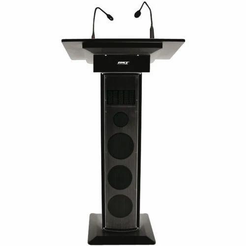 Black Audio Podium