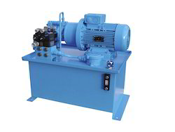 Sky Blue And Black Hydraulic Power Pack System