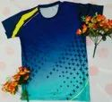 Polyester Men Blue With Star Pattern Rich Quality Sports Jersey