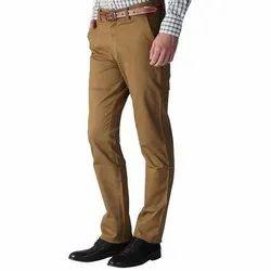 Brown Plain Mens Formal Cotton Trouser, Handwash, Size: 28-38