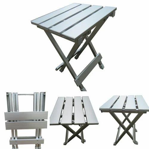 Folding Portable Light Weight Aluminium Stool Chair