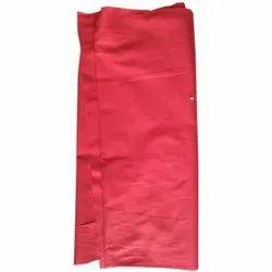 Red Plain Cotton Slub Dyed Fabric (60 x 60)