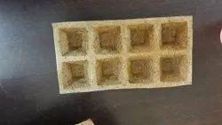 Coir 8 Cavity Seedling Tray, for Wetland Paddy Seeding