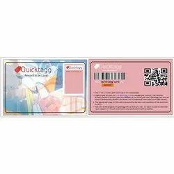 Rectangle Scratch Card Label