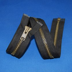 Black Brass Zippers