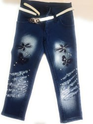Denim Jean Slim Baby Girl Jeans, Waist Size: 22 24 26 28 30