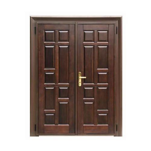 Modern Teak Wood Double Door