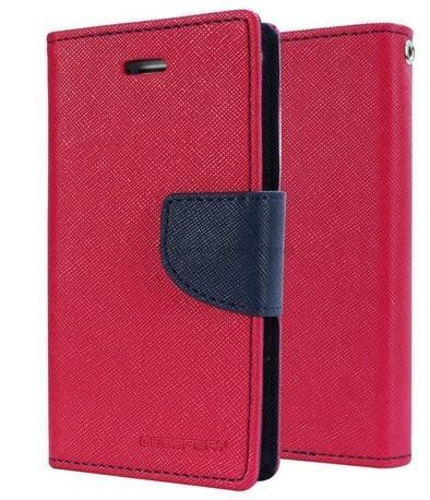 Red Wallet Flip Cover Case For Lenovo A850 Plus