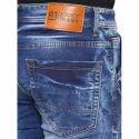 Ice Blue Cotton Mens Jeans
