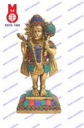 Lord Hanuman Standing W/Tail W/Stone Statue
