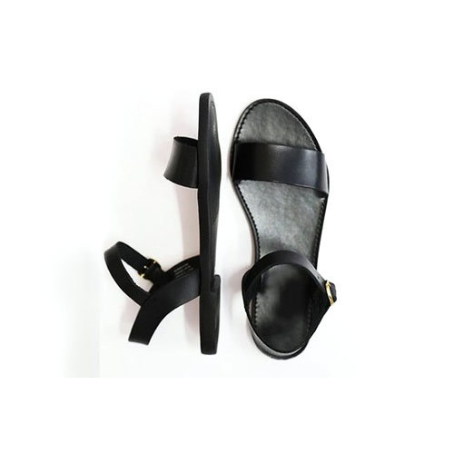 Black Women Flats Sandal at Rs 180/pair