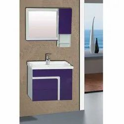 Wall Mounted White, Purple Wooden Bathroom Vanities