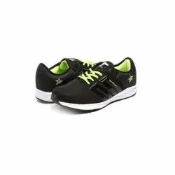 Mens Black Parrot Green Walking Shoes
