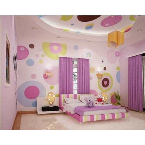 Baby Pink Royal Pattern Girls Bedroom Wallpaper, Rs 750 /piece | ID ...