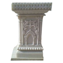 White Marble Tulsi Stand