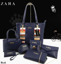 F3 Fashion PU Leather Zara 7 Pc Combo Purse