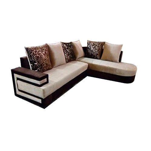 5 Seater Dark Brown Cream Designer Wooden Sofa Set Rs 5000