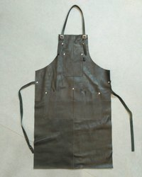 Designer Black Leather Apron