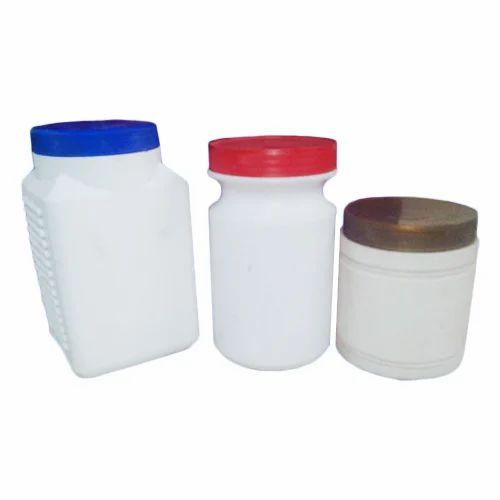 Powder Plastic Jars, Capacity: 0.5-1 Kgs, Weight: 10-20g