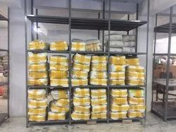 Paint Coated 5 To 10 Feet Heavy Duty Slotted Angle Rack, For Industries, 150 Kg To 300 Kg Each Level