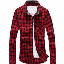 Check Mens Designer Shirt