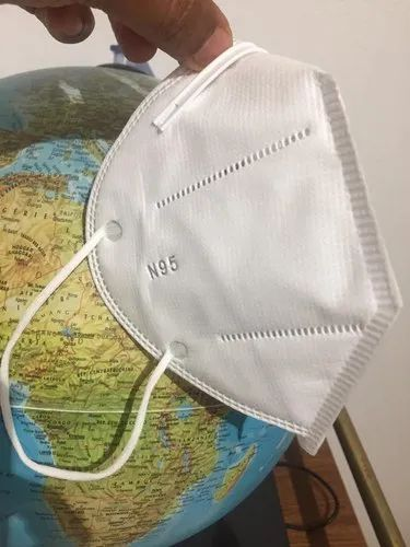 Medi-Max N95 Respirator Face Mask Without Valve, Number of Layers: 5 Layers