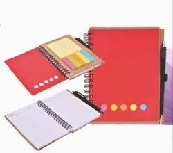 A6 Red Ecoline Notebook with Sticky Notes