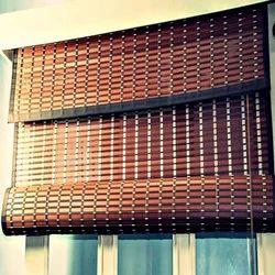 PVC Dark Brown Balcony Horizontal Blinds