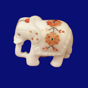 Marble Inlay Flower Design Elephant Statue