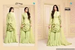 Cotton Sharara Salwar Suits