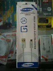 White Samsung Mobile Data Cable
