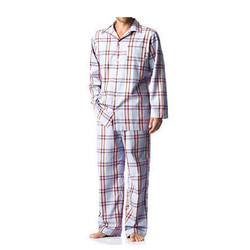 Mens Checked Night Suit, Size: S-Xl