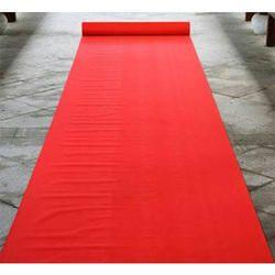 Red Non Woven Carpet