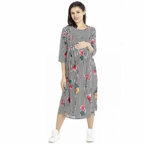 5d0e244674b61 M Knee Length Maternity Loungewear Gown, Rs 1399 /piece, Shubh Shri ...
