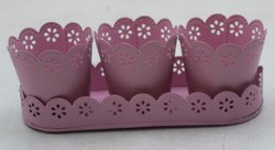 Tray With 3 Planters